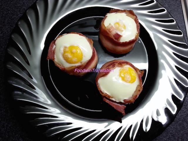 Uova nel bacon