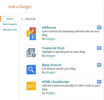 Gadget Pop box in blogger