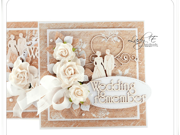 Wedding cards & step by step / Kartki ślubne i krok po kroku :)