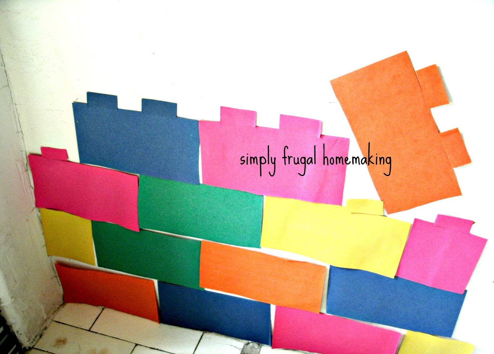 Simply Frugal Homemaking Simple Lego Birthday Decorations
