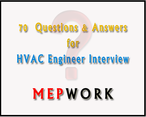 Download 70 Question With their Answers for HVAC Engineer Interview PDF - HVAC Engineer Interview preparation