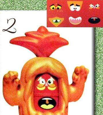 Kinder Maxi серия монстров, красный монстрик фигурка