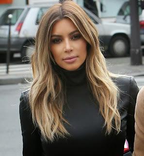 kim kardashian, coiffures de star, celebrity, celeb hairstyle
