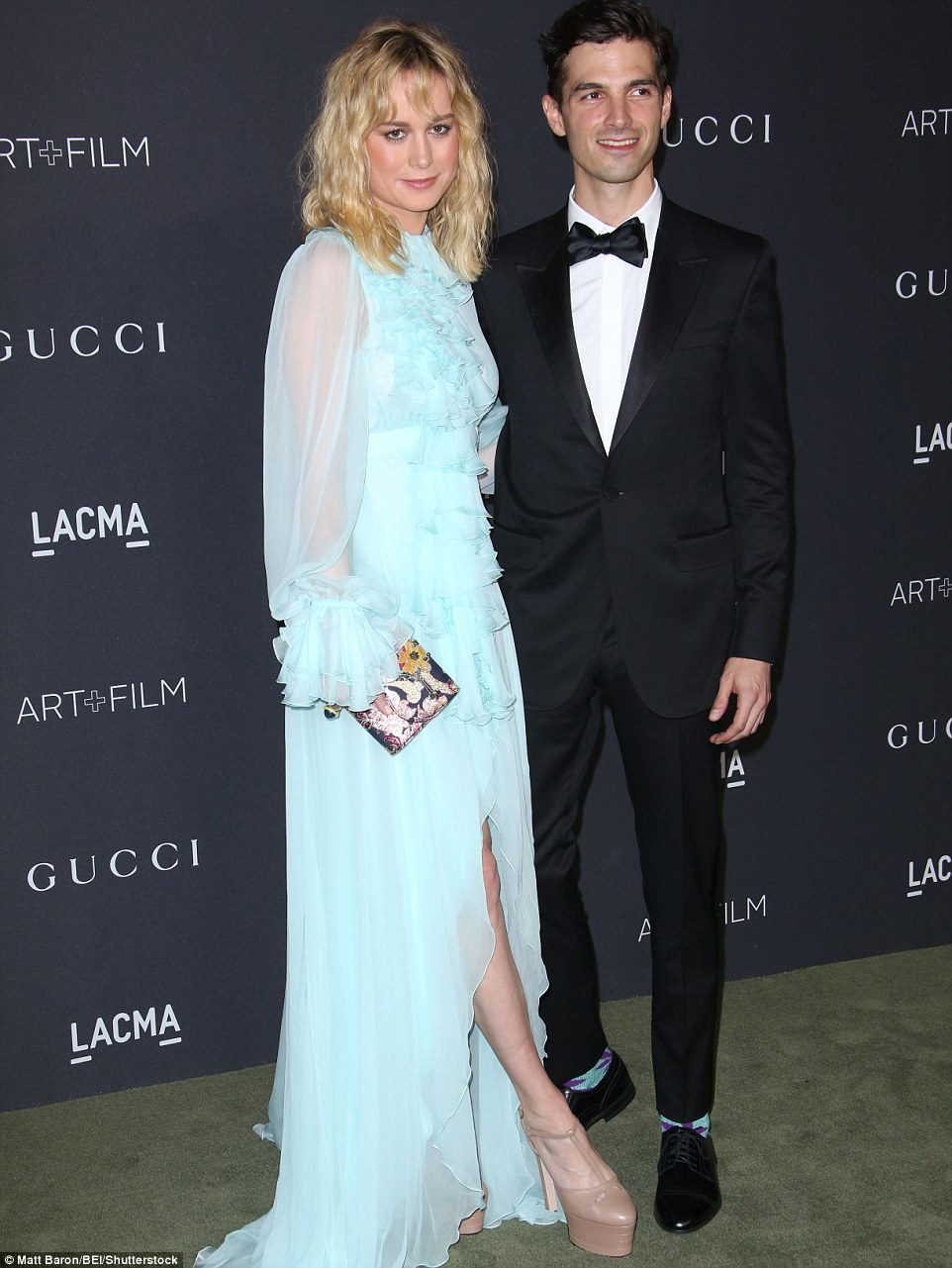The blonde beauty was joined by her beau Alex Greenwald