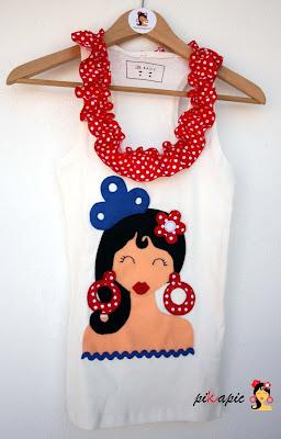 Camiseta flamenca Bea. Pikapic