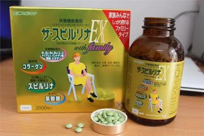 Spirulina EX Tảo vàng cao cấp Nhật Bản hộp 2000 viên