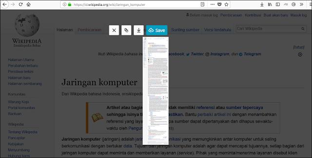 Cara Screenshot Panjang Pada Halaman Web di Komputer
