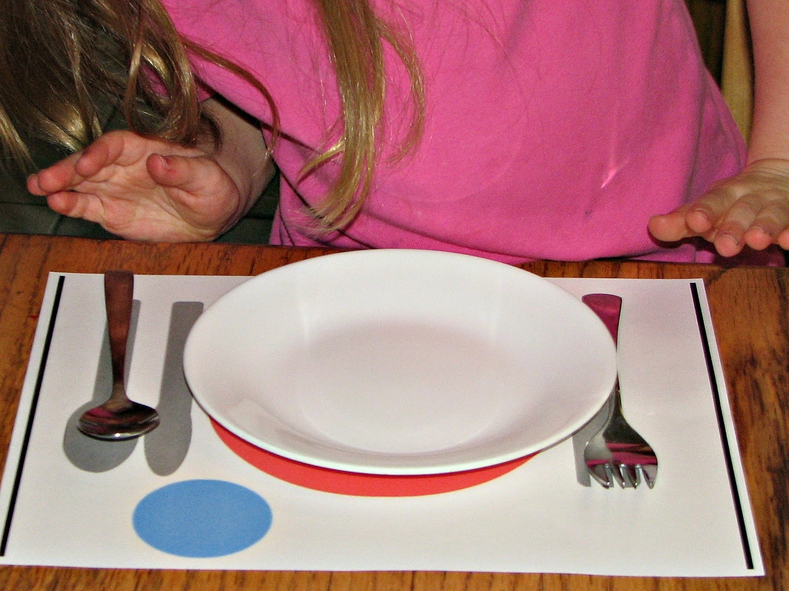 She Has Also Been Loving Setting Her Own Spot At The Table Using Placemat As A Guide