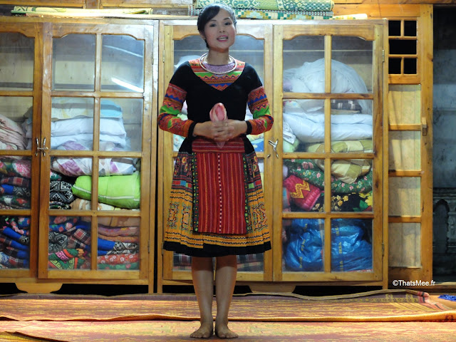 mai chau dans villageois thai blancs muong