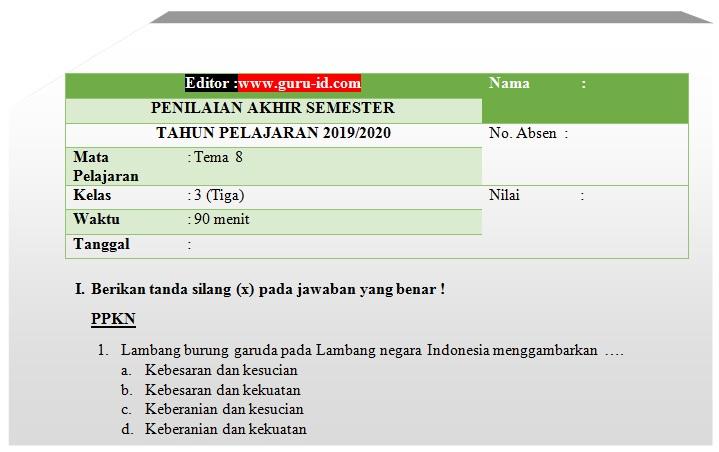 Download Soal Uas Pkn Kelas 3 Pdf