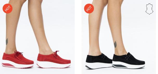 Pantofi casual rosii, negri din piele naturala cu talpa ortopedica moderni