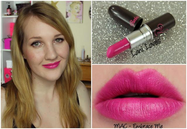 MAC Embrace Me lipstick swatch