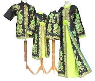 Batik sarimbit modern plus 2 anak