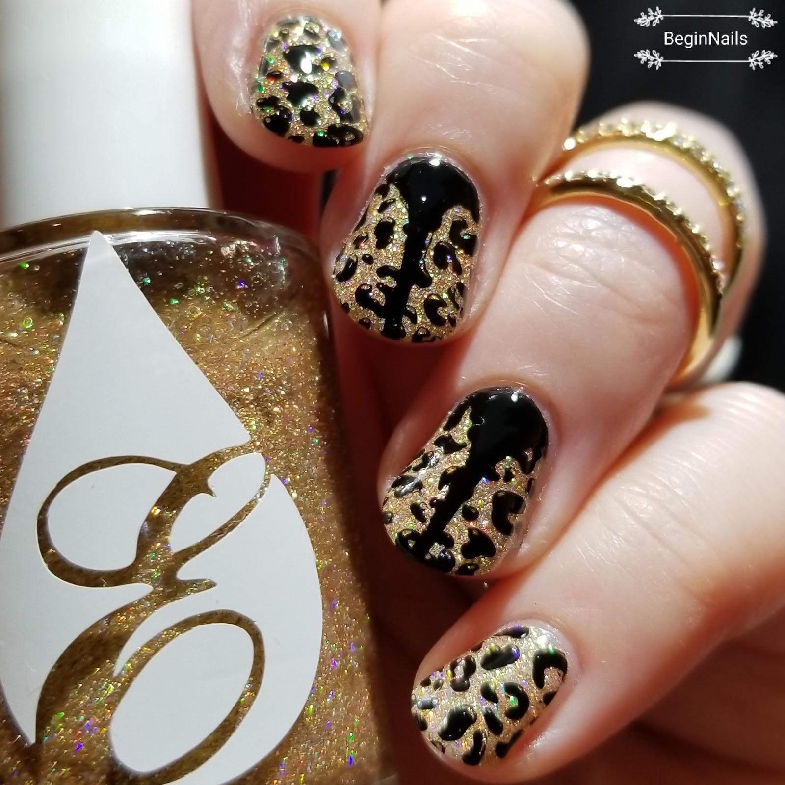 Let\'s Begin Nails: Digit-al Dozen: All That Glitters Is...Rawr!