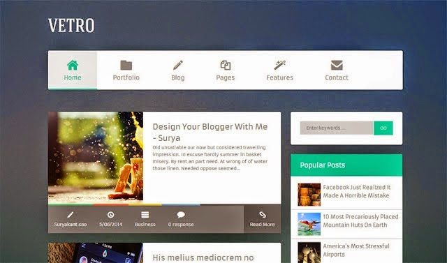 2016 Blogger Template Free, Share Template Blogspot : Personal ...
