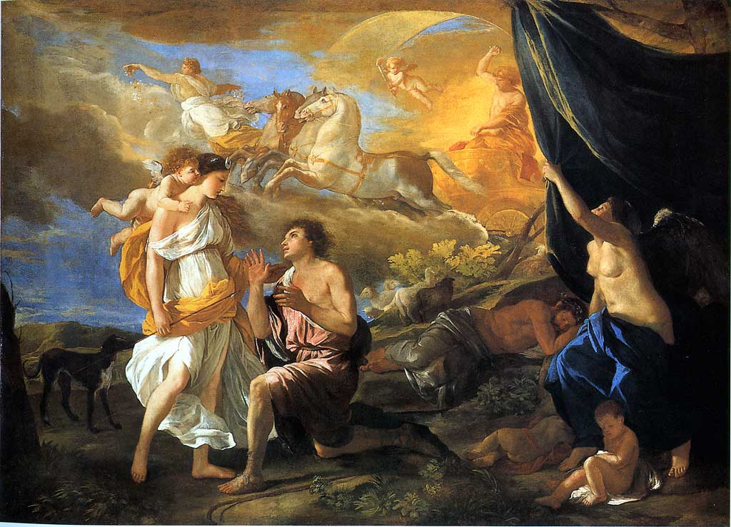 Selene And Endymion By Nicolas Poussin 1630