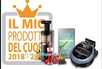 Logo Il mio Prodotto del Cuore: vinci gratis Apirapolvere, Tablet e estrattore di succo