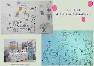 stand, art-déco-Salamandre, dessin, concours, enfant