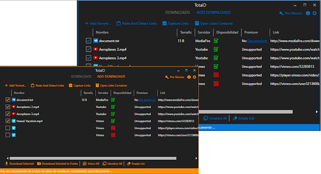 برنامج TotalD للتحميل من اليوتيب ولتحميل من الروابط المباشرة والتورنت