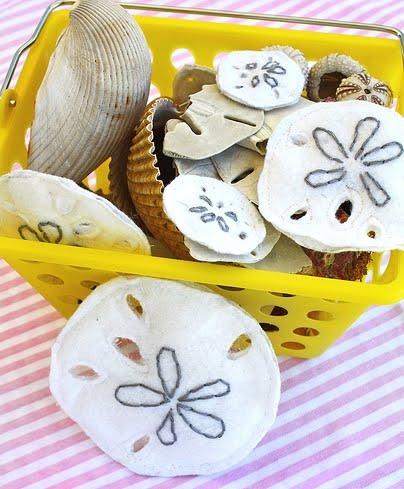 felt crafts with sand dollar