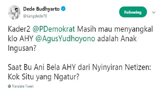 Parah! Ani Yudhoyono Nyolot Tanggapi Netizen Yang Bilang AHY Belum Pantas Nyapres, Bikin Agus Disebut Anak Ingusan, Politisi Demokrat Belain Daripada Mimpin Warung Martabak...