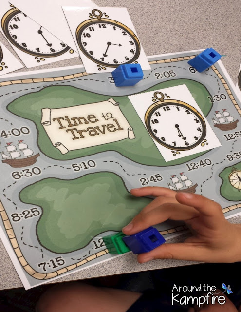 Thanksgiving math telling time board game