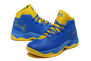 Under Armour Curry 2.5 Blue Yellow Premium, toko sepatu basket , jual sepatu basket, harga basket under armour, under armour curry , curry 2.5