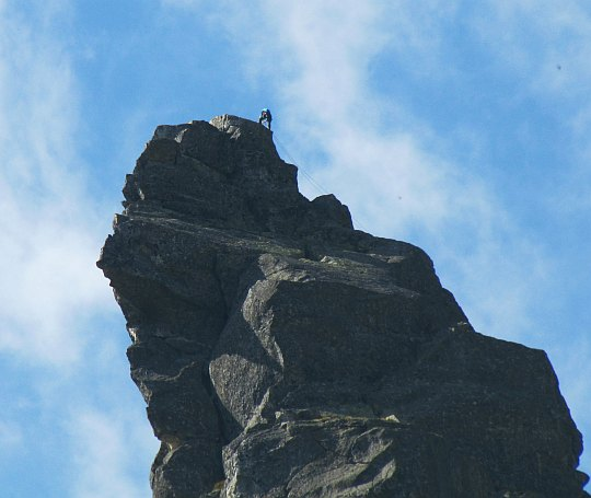 Taternik na szczycie Mnicha.