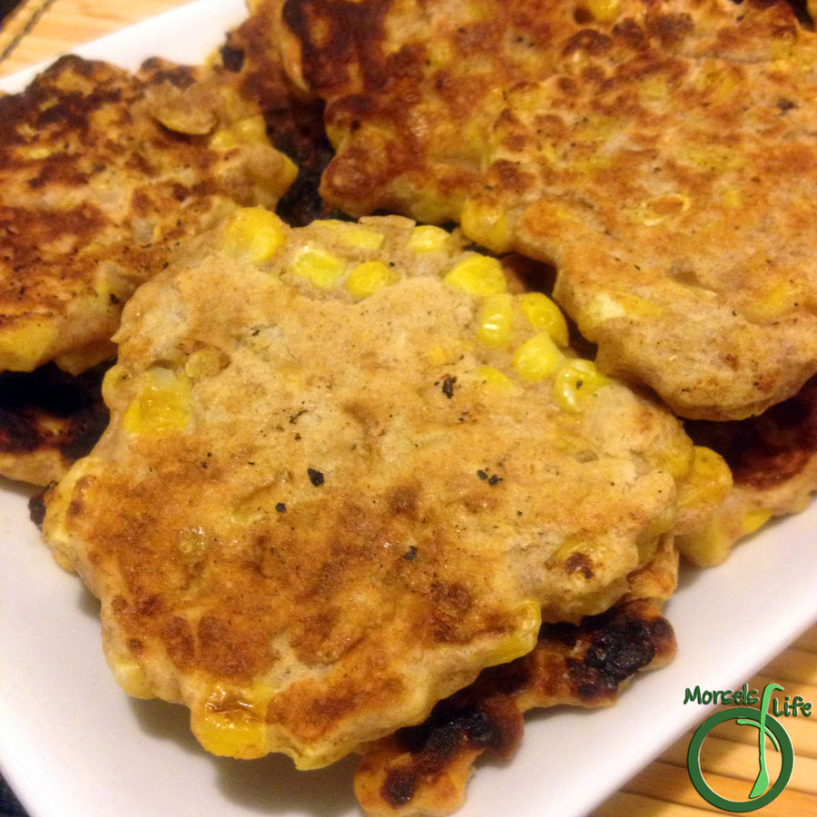 Morsels of Life - Corn Fritters - Quick and simple corn fritters made with whole wheat.
