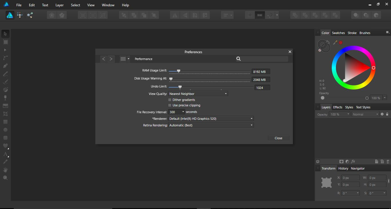 How To Access The Preferences Panel In Affinity Designer Design Bundles