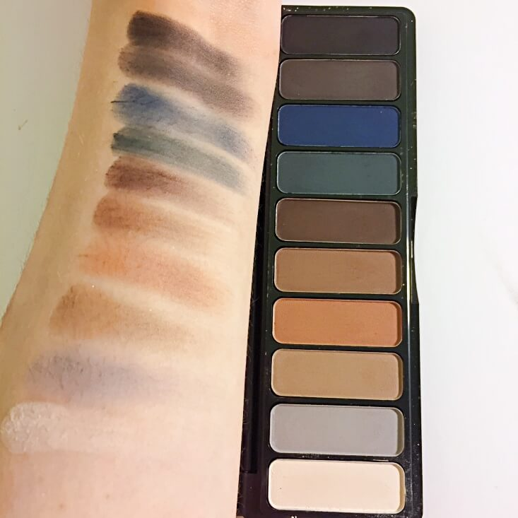 e.l.f. Mad for Matte Eyeshadow Palette Holy Smokes swatch