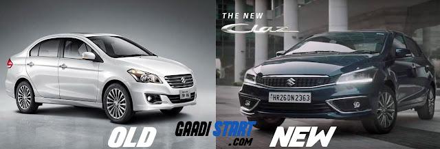 Maruti Suzuki ciaz 2018 v/s Old ciaz - Comparison