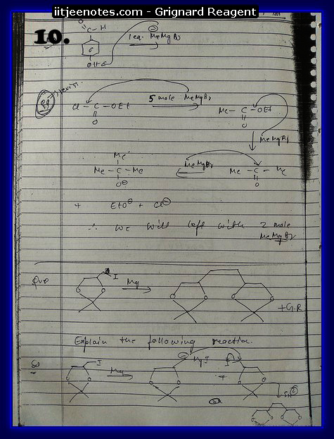 Grignard Reagent Notes