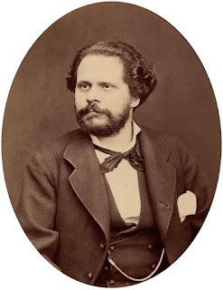 Giosuè Carducci in a photograph  taken in about 1870