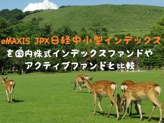 eMAXIS JPX日経中小型インデックスを国内株式インデックスファンドやアクティブファンドと比較