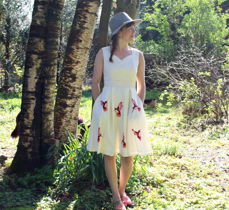 Spring dress with hat