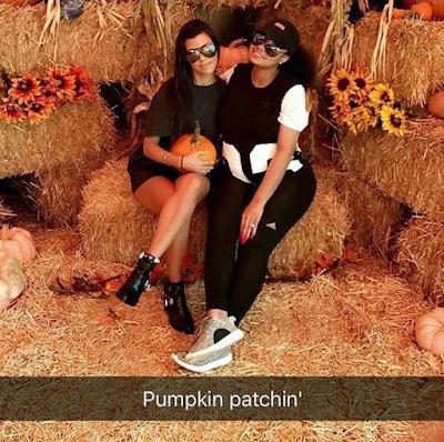 Kourtney Kardashian and Blac Chyna spend time together at a Pumpkin patch