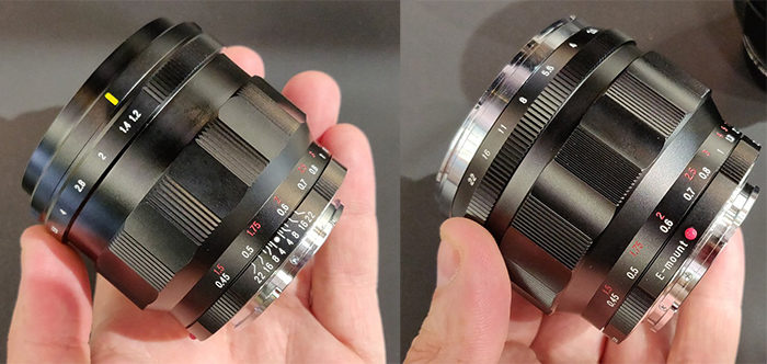 Две версии объектива Voigtländer Nokton 50mm f/1.2