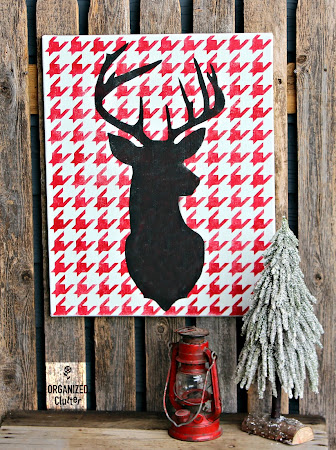 Up-cycled Garage Sale Art Canvas
