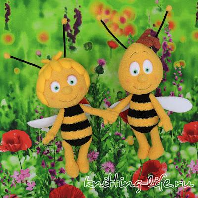 Amigurumi Bee Maya and Willy-Free Pattern