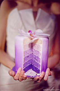 image purple ombre wedding cake geode inspired