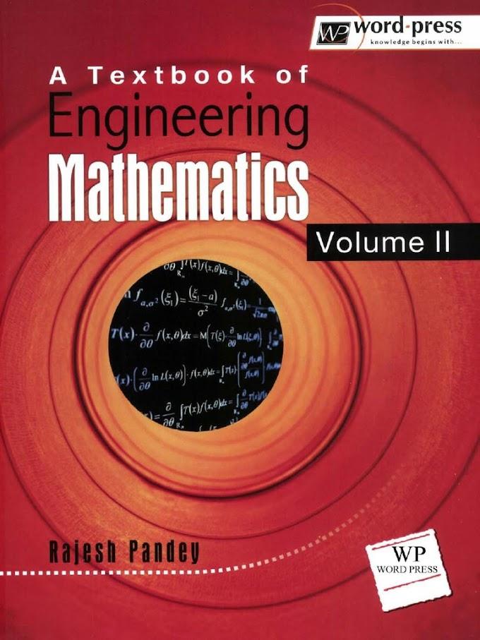 [PDF] A Textbook of Engineering Mathematics Volume-2 By Rajesh Pandey