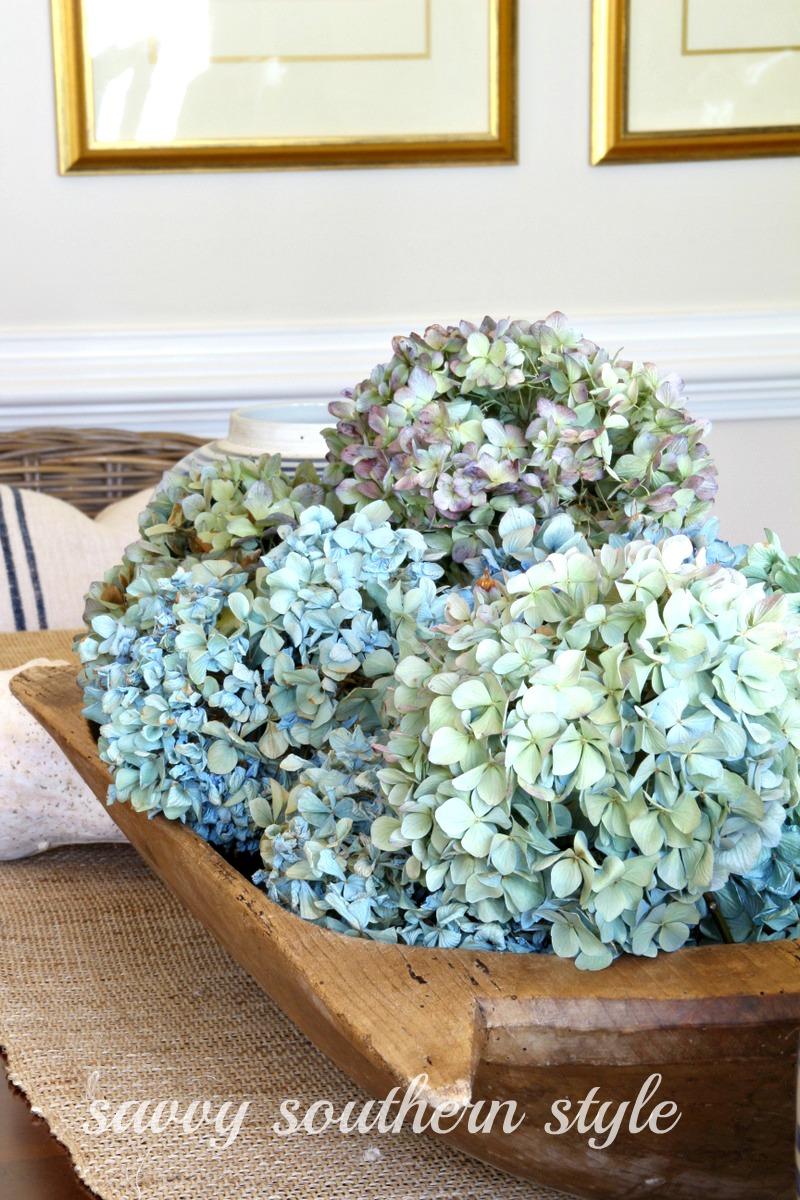 Savvy Southern Style Dried Hydrangeas