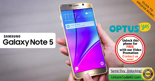 Factory Unlock Code Samsung Galaxy Note 5 from Optus Yes