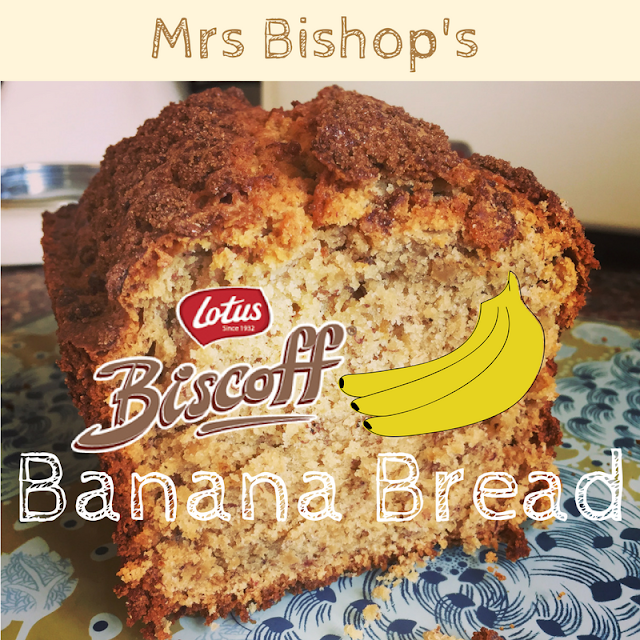 Mrs Bishop's Lotus Biscoff Banana Bread