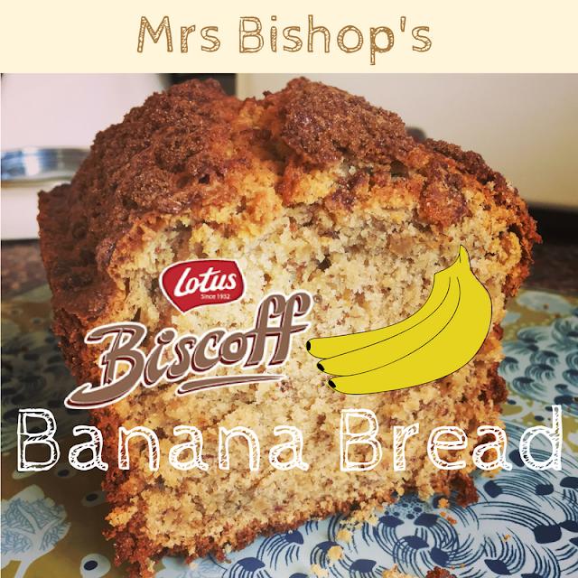 Mrs Bishop's Lotus Biscoff Banana Bread