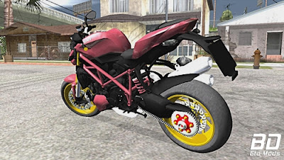 Mod , Moto , 2015 Ducati Streetfighter 848 para GTA San Andreas , Jogo GTA SA