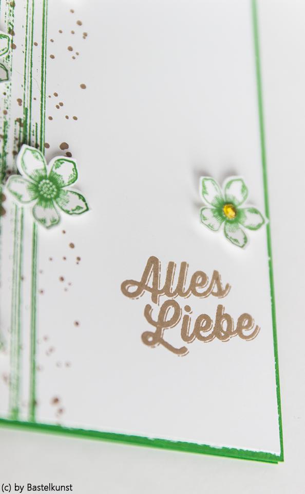 BASTELKUNST: Karte: Alles Liebe - mit Blumen