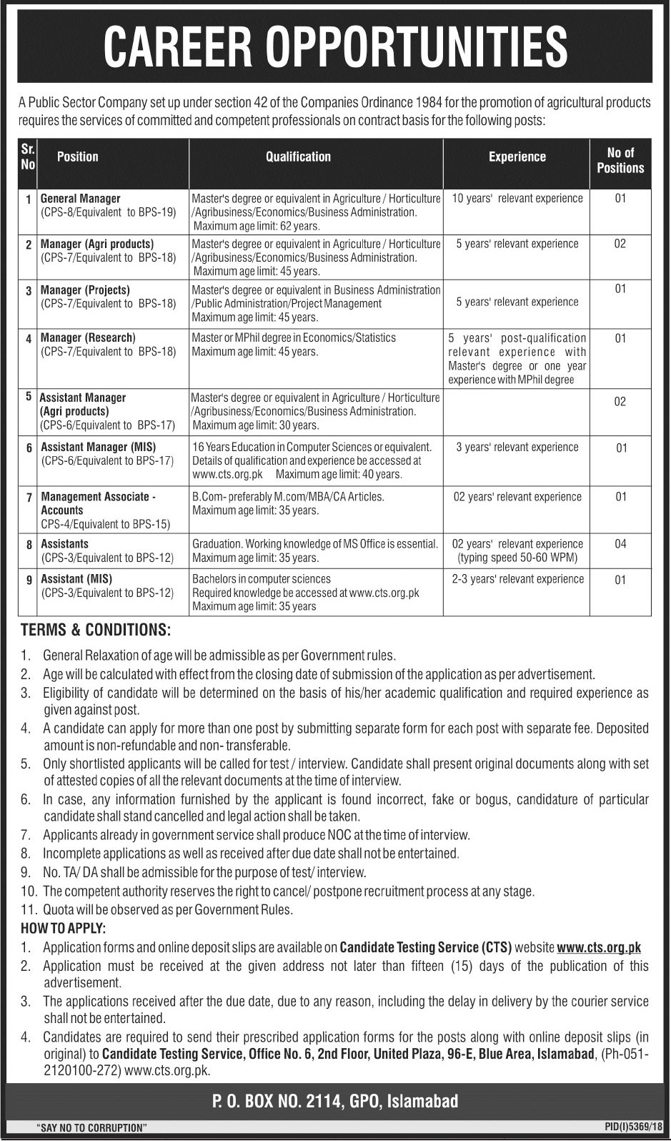 PO BOX 2114 Jobs 2019 | Public Sector Organizatio