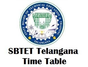 SBTET TS Diploma Time Table 2018